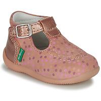 鞋子 女孩 凉鞋 Kickers BONBEK-3 玫瑰色 / Pois