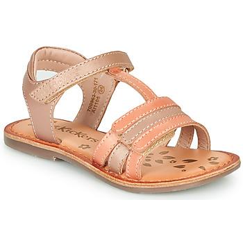 鞋子 女孩 凉鞋 Kickers DIAMANTO 玫瑰色 / 橙色