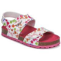 鞋子 女孩 凉鞋 Kickers SUMMERKRO 白色 / 多彩