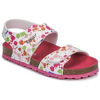 鞋子 女孩 涼鞋 Kickers SUMMERKRO 白色 / 多彩