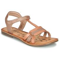 鞋子 女孩 凉鞋 Kickers DIAMANTO 橙色 / 玫瑰色