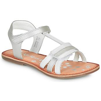 鞋子 女孩 凉鞋 Kickers DIAMANTO 白色