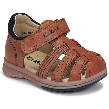 鞋子 男孩 凉鞋 Kickers PLATIBACK 驼色