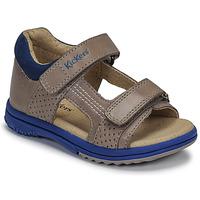 鞋子 男孩 凉鞋 Kickers PLAZABI 灰色 / 蓝色