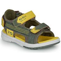 鞋子 男孩 凉鞋 Kickers PLANE 卡其色 / 黄色
