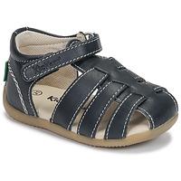 鞋子 兒童 涼鞋 Kickers BIGFLO-3 海藍色