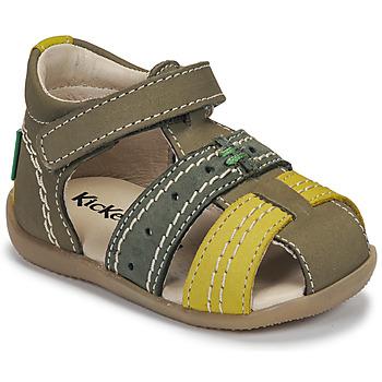 鞋子 儿童 凉鞋 Kickers BIGBAZAR-3 绿色