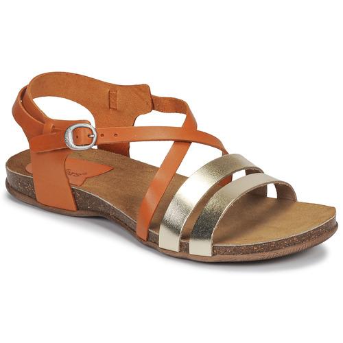 鞋子 女士 凉鞋 Kickers ANATOMIUM 驼色 / 金色