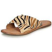 鞋子 女士 休閑涼拖/沙灘鞋 Kickers DIAZ-2 米色 / 黑色 / 棕色