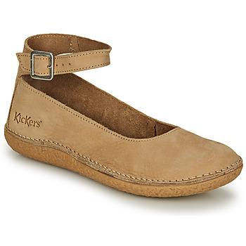 鞋子 女士 平底鞋 Kickers HONNORA 米色