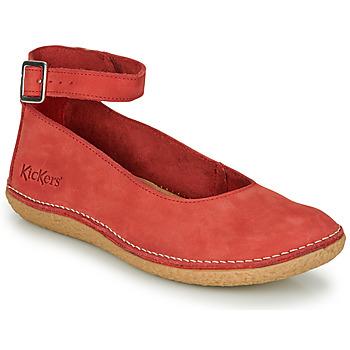 鞋子 女士 平底鞋 Kickers HONNORA 红色