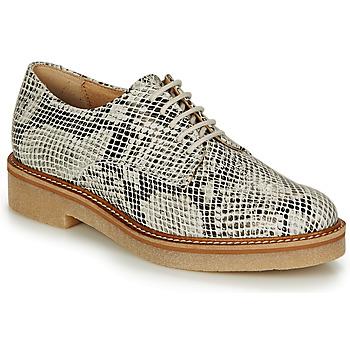鞋子 女士 德比 Kickers OXFORK 白色 / 黑色 / Python