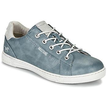 鞋子 女士 球鞋基本款 Mustang 1349301-875 蓝色