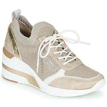 鞋子 女士 球鞋基本款 Mustang 1303303-4 米色