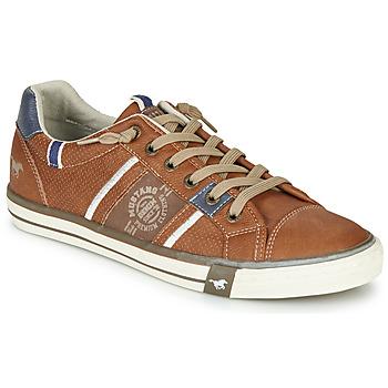 鞋子 男士 球鞋基本款 Mustang 4072308-307 棕色