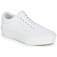 鞋子 女士 球鞋基本款 Vans 范斯 OLD SKOOL PLATFORM 白色