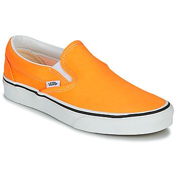 鞋子 女士 平底鞋 Vans 范斯 CLASSIC SLIP-ON NEON 橙色