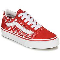 鞋子 儿童 球鞋基本款 Vans 范斯 OLD SKOOL 红色 / 白色