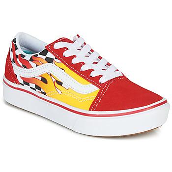 鞋子 男孩 球鞋基本款 Vans 范斯 COMFYCUSH OLD SKOOL 红色 / 黄色