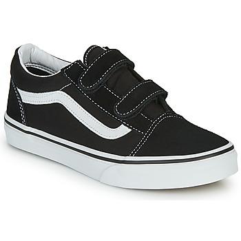 鞋子 儿童 球鞋基本款 Vans 范斯 OLD SKOOL V 黑色 / 白色