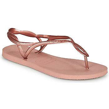 鞋子 女士 人字拖 Havaianas 哈瓦那 LUNA 玫瑰色 / 金色
