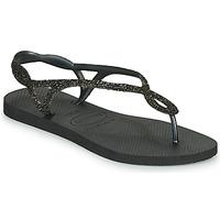 鞋子 女士 人字拖 Havaianas 哈瓦那 LUNA PREMIUM 黑色