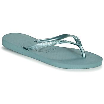 鞋子 女士 人字拖 Havaianas 哈瓦那 SLIM 蓝色