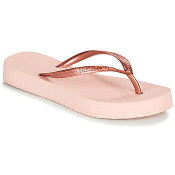 鞋子 女士 人字拖 Havaianas 哈瓦那 SLIM FLATFORM 芭蕾 / 玫瑰色