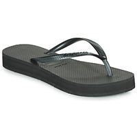 鞋子 女士 人字拖 Havaianas 哈瓦那 SLIM FLATFORM 黑色