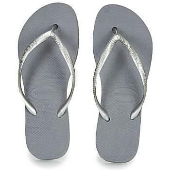 鞋子 女士 人字拖 Havaianas 哈瓦那 SLIM FLATFORM 灰色
