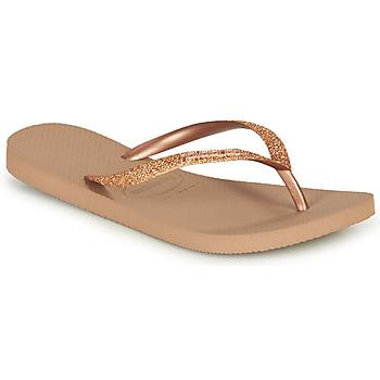 鞋子 女士 人字拖 Havaianas 哈瓦那 SLIM GLITTER 玫瑰色 / 金色