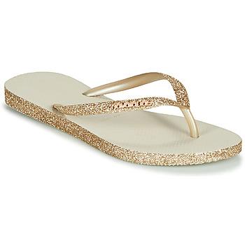鞋子 女士 人字拖 Havaianas 哈瓦那 SLIM SPARKLE 米色 / 金色