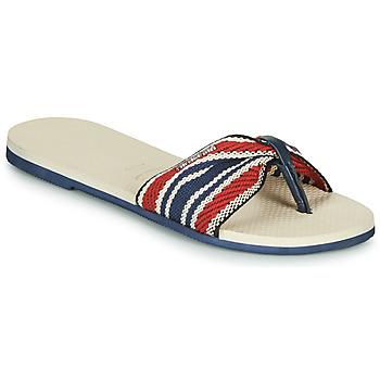 鞋子 女士 人字拖 Havaianas 哈瓦那 YOU SAINT TROPEZ FITA 米色 / 海蓝色 / 红色
