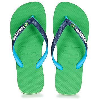 鞋子 人字拖 Havaianas 哈瓦那 BRASIL MIX 绿色 / 蓝色