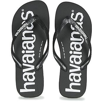 鞋子 男士 人字拖 Havaianas 哈瓦那 TOP LOGOMANIA 黑色