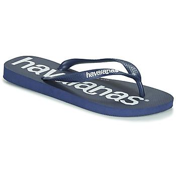 鞋子 人字拖 Havaianas 哈瓦那 TOP LOGOMANIA 海军蓝 / 蓝色