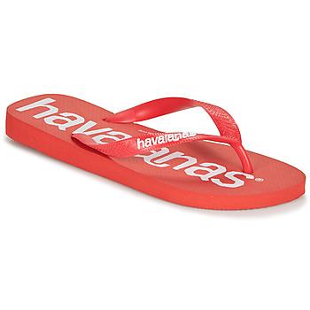 鞋子 男士 人字拖 Havaianas 哈瓦那 TOP LOGOMANIA 红色