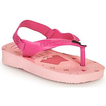 鞋子 女孩 人字拖 Havaianas 哈瓦那 BABY DISNEY CLASSICS II 玫瑰色