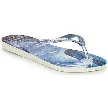 鞋子 女孩 人字拖 Havaianas 哈瓦那 KIDS SLIM FROZEN 蓝色