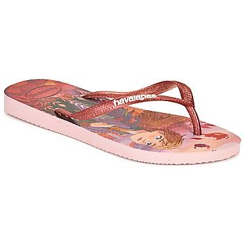 鞋子 女孩 人字拖 Havaianas 哈瓦那 KIDS SLIM FROZEN 玫瑰色