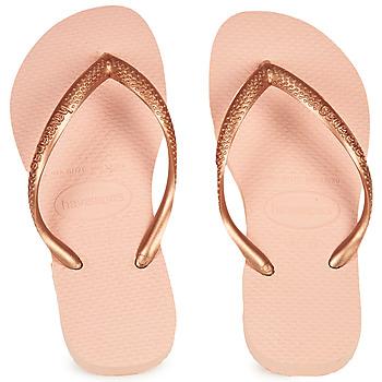 鞋子 女孩 人字拖 Havaianas 哈瓦那 SLIM 玫瑰色
