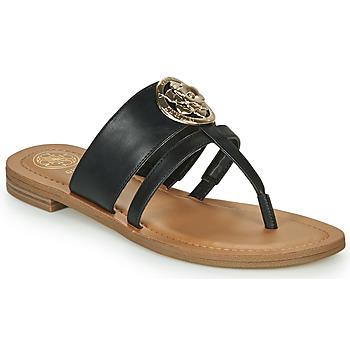 鞋子 女士 人字拖 Guess GENERA 黑色