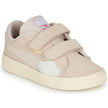 鞋子 女孩 球鞋基本款 Puma 彪马 SUEDE 玫瑰色