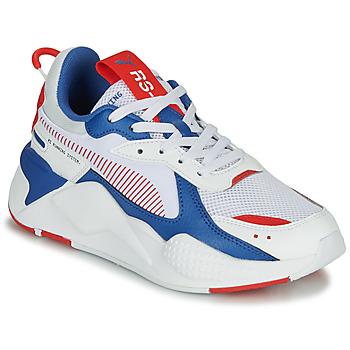 鞋子 兒童 球鞋基本款 Puma 彪馬 RS-X 白色 / 藍色 / 紅色