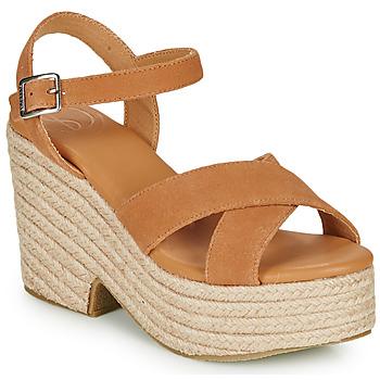 鞋子 女士 凉鞋 Superdry 极度干燥 HIGH ESPADRILLE SANDAL 棕色
