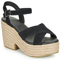 鞋子 女士 凉鞋 Superdry 极度干燥 HIGH ESPADRILLE SANDAL 黑色