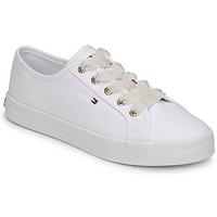 鞋子 女士 球鞋基本款 Tommy Hilfiger ESSENTIAL NAUTICAL SNEAKER 白色