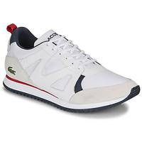 鞋子 男士 球鞋基本款 Lacoste AESTHET 120 2 SMA 白色 / 蓝色 / 红色