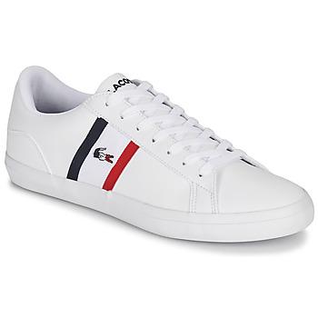 鞋子 男士 球鞋基本款 Lacoste LEROND TRI1 CMA 白色 / 蓝色 / 红色