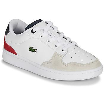 鞋子 儿童 球鞋基本款 Lacoste MASTERS CUP 120 2 SUC 白色 / 蓝色 / 红色